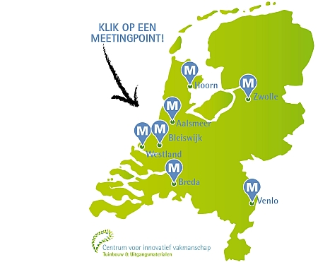 Kaart met meetingpoints